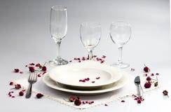 Άσπρο επιτραπέζιο σκεύος Στοκ Εικόνες