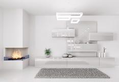 Άσπρο εσωτερικό δωματίων Στοκ φωτογραφία με δικαίωμα ελεύθερης χρήσης