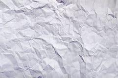 Άσπρο ζαρωμένο έγγραφο μεγάλο ως υπόβαθρο Στοκ Εικόνα