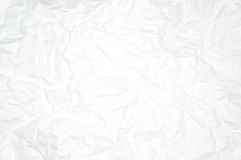 Άσπρο ζαρωμένο έγγραφο Στοκ εικόνα με δικαίωμα ελεύθερης χρήσης