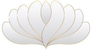 Άσπρο διάνυσμα λογότυπων λουλουδιών Στοκ Φωτογραφία