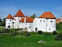 Άσπρο κάστρο σε Varazdin Στοκ φωτογραφία με δικαίωμα ελεύθερης χρήσης
