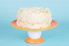 Άσπρο κέικ σοκολάτας σε μια στάση στοκ εικόνες με δικαίωμα ελεύθερης χρήσης