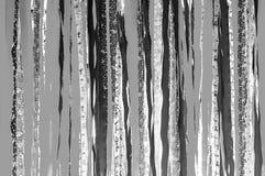 Άσπρο και γκρίζο υπόβαθρο λουρίδων υφάσματος τόνου Monotone ταπετσαρία σύστασης στοκ εικόνες