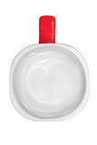 Άσπρο και κόκκινο φλυτζάνι που απομονώνεται στο άσπρο υπόβαθρο Στοκ φωτογραφίες με δικαίωμα ελεύθερης χρήσης