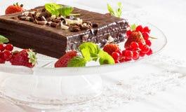Άσπρο και μαύρο κέικ σοκολάτας Στοκ Εικόνα