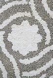 Άσπρο και μαύρο κεραμικό κεραμίδι που μιμείται το μωσαϊκό Στοκ φωτογραφίες με δικαίωμα ελεύθερης χρήσης