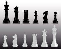 Άσπρο και μαύρο σκάκι ελεύθερη απεικόνιση δικαιώματος