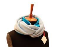άσπρο και μπλε ραβδωτό μαντίλι Στοκ Εικόνες