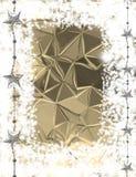 Άσπρο και χρυσό υπόβαθρο Χριστουγέννων Στοκ Εικόνες