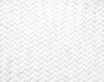 Άσπρο καλάθι μπαμπού Στοκ Εικόνα