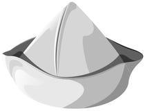 Άσπρο καπέλο θάλασσας που απομονώνεται Στοκ Φωτογραφία