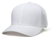 Άσπρο καπέλο μπέιζ-μπώλ Στοκ Εικόνα