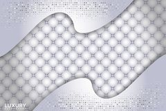 Άσπρο κατασκευασμένο υπόβαθρο πολυτέλειας με την τρισδιάστατη μορφή επικάλυψης ελεύθερη απεικόνιση δικαιώματος