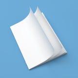 Άσπρο κενό περιοδικών κάλυψης κενό Στοκ Εικόνες