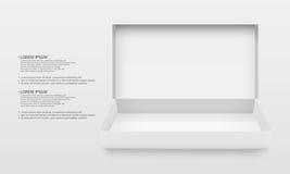 Άσπρο κενό χαρτόνι opend Στοκ εικόνα με δικαίωμα ελεύθερης χρήσης