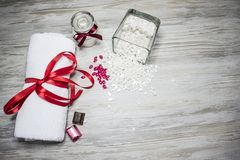 Άσπρο κερί με τη σοκολάτα στοκ εικόνα