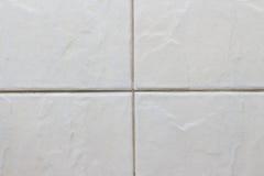 Άσπρο κεραμίδι πατωμάτων Στοκ φωτογραφίες με δικαίωμα ελεύθερης χρήσης