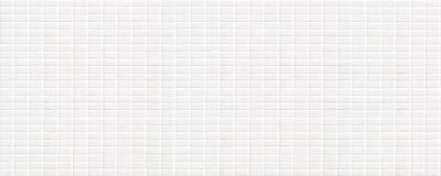 Άσπρο κεραμικό κεραμίδι με τα πολύ μικρά ορθογώνια με τετραγωνική μορφή στοκ φωτογραφία με δικαίωμα ελεύθερης χρήσης
