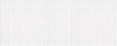 Άσπρο κεραμικό κεραμίδι με τα πολύ μικρά ορθογώνια με τετραγωνική μορφή στοκ εικόνα