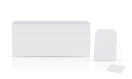 Άσπρο κιβώτιο τσαγιού απεικόνιση αποθεμάτων