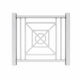 Άσπρο κιγκλίδωμα σχεδίου μετάλλων Στοκ εικόνα με δικαίωμα ελεύθερης χρήσης