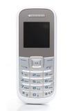 Άσπρο κινητό τηλέφωνο στο άσπρο υπόβαθρο Στοκ Εικόνα