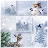 Άσπρο κολάζ Χριστουγέννων Στοκ Εικόνες