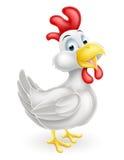 Άσπρο κοτόπουλο κινούμενων σχεδίων Στοκ εικόνες με δικαίωμα ελεύθερης χρήσης