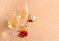 άσπρο κρασί ανασκόπησης Στοκ Φωτογραφία