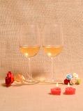 άσπρο κρασί ανασκόπησης Στοκ Φωτογραφίες
