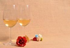 άσπρο κρασί ανασκόπησης Στοκ εικόνα με δικαίωμα ελεύθερης χρήσης