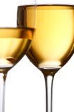 άσπρο κρασί γυαλιών Στοκ εικόνες με δικαίωμα ελεύθερης χρήσης