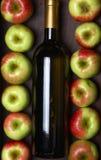 άσπρο κρασί μήλων Στοκ Φωτογραφίες