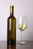 άσπρο κρασί μήλων Στοκ εικόνα με δικαίωμα ελεύθερης χρήσης