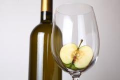 άσπρο κρασί μήλων Στοκ Εικόνα