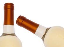 άσπρο κρασί μπουκαλιών σ&upsilon Στοκ Εικόνα
