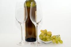 άσπρο κρασί σταφυλιών Στοκ Εικόνα