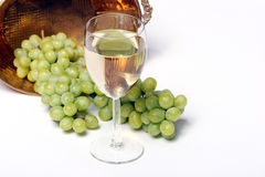 άσπρο κρασί σταφυλιών Στοκ Εικόνες