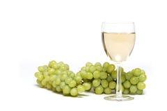άσπρο κρασί σταφυλιών στοκ φωτογραφία