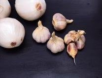 Άσπρο κρεμμύδι και σκόρδο Στοκ φωτογραφίες με δικαίωμα ελεύθερης χρήσης