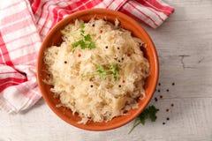 Άσπρο λάχανο, sauerkraut στοκ φωτογραφίες με δικαίωμα ελεύθερης χρήσης