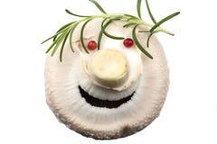 Άσπρο μανιτάρι σε ένα αστείο άτομο Στοκ Φωτογραφίες