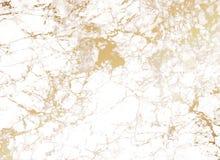 Άσπρο μαρμάρινο υπόβαθρο με τη χρυσή σύσταση απεικόνιση αποθεμάτων