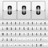 Άσπρο μηχανικό διάνυσμα πινάκων βαθμολογίας Στοκ Εικόνες