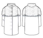 Άσπρο μοντέρνο παλτό Στοκ Φωτογραφίες