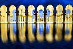 Άσπρο μουσουλμανικό τέμενος Στοκ Εικόνα