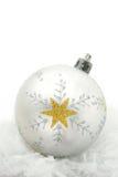 Άσπρο μπιχλιμπίδι με το αστέρι Στοκ Εικόνες