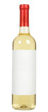Άσπρο μπουκάλι κρασιού στοκ εικόνα με δικαίωμα ελεύθερης χρήσης