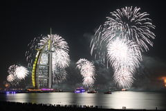 Άσπρο νέο έτος στο Ντουμπάι στοκ φωτογραφία με δικαίωμα ελεύθερης χρήσης